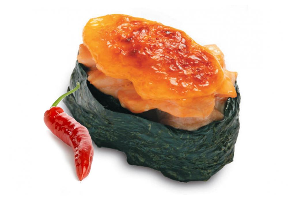 Запеченные с лососем острые